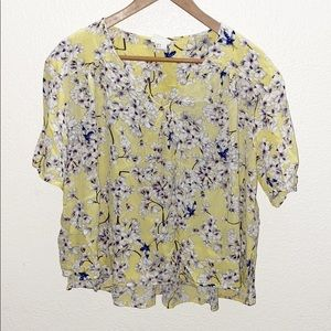 Anna Grover x HM Yellow Floral Flowy Blouse